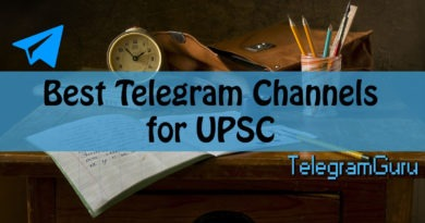 Telegram Channels for UPSC