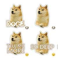 Doge telegram meme stickers