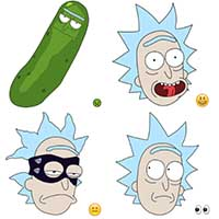 rick and morty telegram meme stickers
