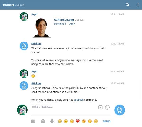 Custom Stickers bot Telegram