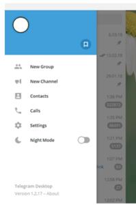 Telegram Channel on desktop