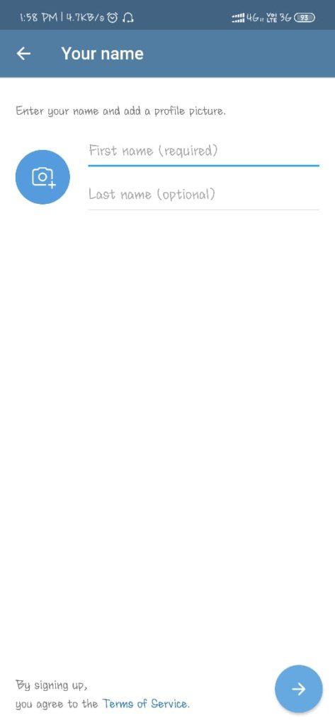 Telegram Profile Setup