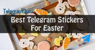 Telegram Easter stickers packs