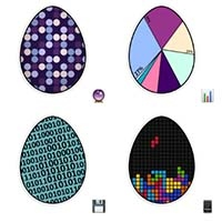 Easter Eggs Cute Pics telegram sticker