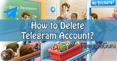 delete telegram account