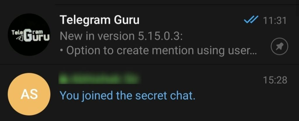 Secret Chat invitation